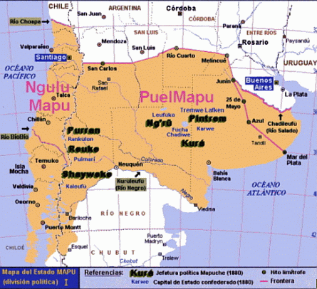 157s. mapuche territory